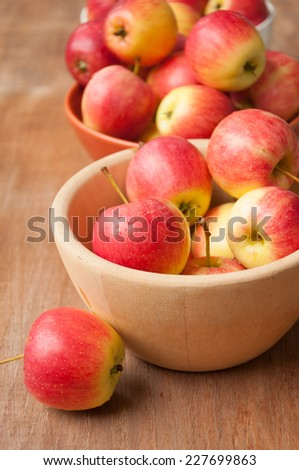 red apples isolated on white #227699863