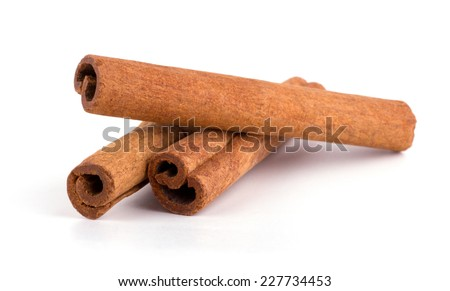 Cinnamon isolated on white background cutout Royalty-Free Stock Photo #227734453