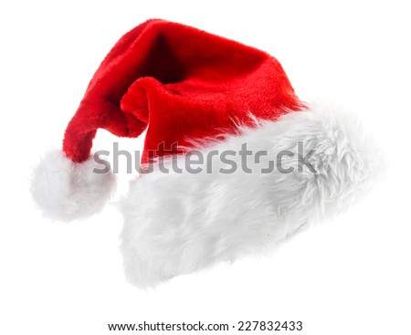 Santa Claus red hat isolated on white background  #227832433