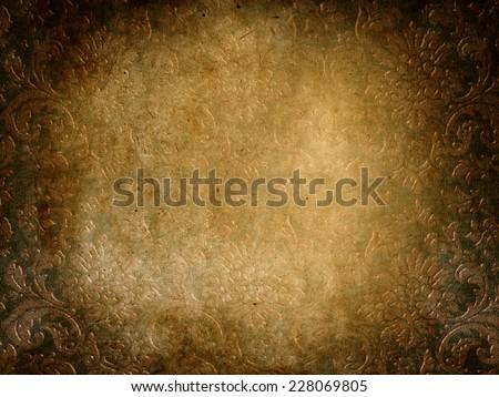 damask grunge vintage background with patina