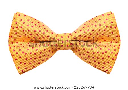 Funky polka dotted bow tie isolated on white background #228269794