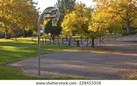 Public park in Autumn colors Gresham OR.