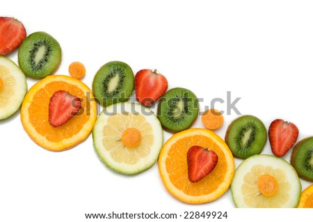 fruit border isolated over a white background #22849924