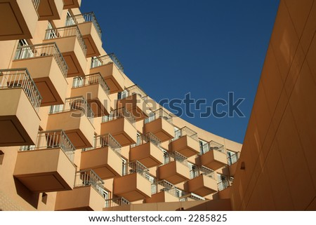 A modern apartment building in Luxor, Egypt. #2285825