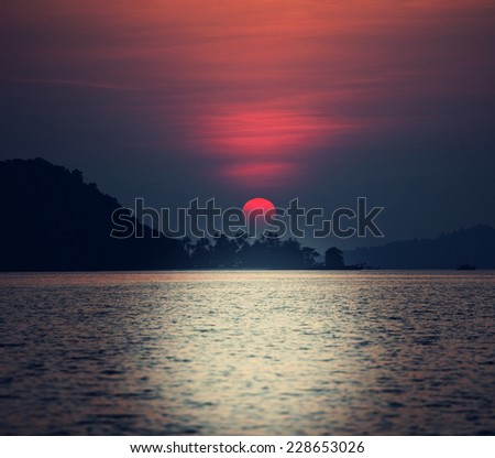Serenity tropical sunset #228653026