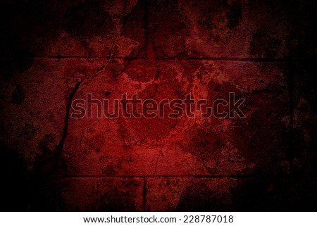 old cracked wall, abstract red and black background or texture