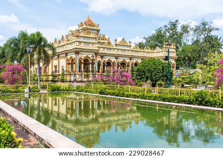 Vinh Tranh Pagoda in My Tho, the Mekong Delta, Vietnam Royalty-Free Stock Photo #229028467