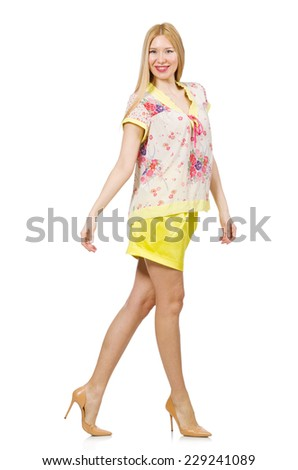 Young woman in fashion concept #229241089