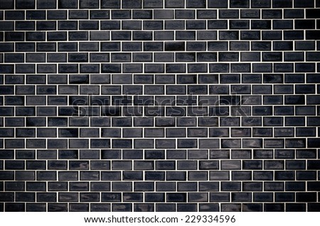 Black tile wall
