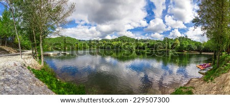 Lake and forest in the Queimadela Dam. Fafe, Minho Portugal #229507300
