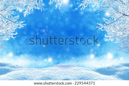 winter  christmas background Royalty-Free Stock Photo #229544371
