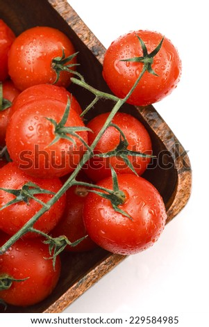 Cherry Tomatoes Isolated on White Background #229584985