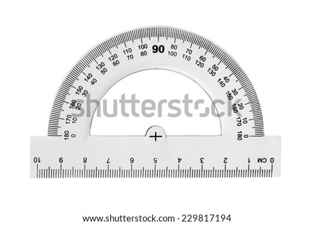 Protractor isolated on white