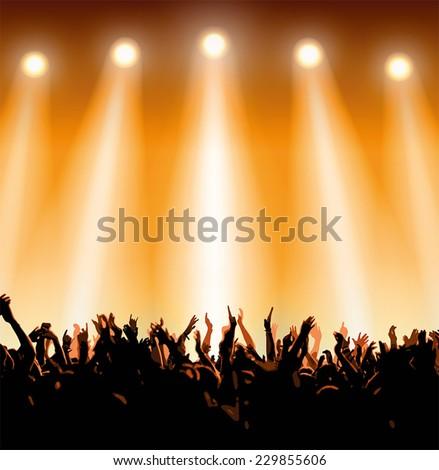concert crowd #229855606