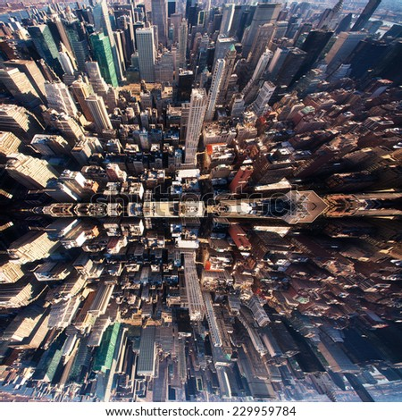 New york cityscape viewed from top of empire state building #229959784