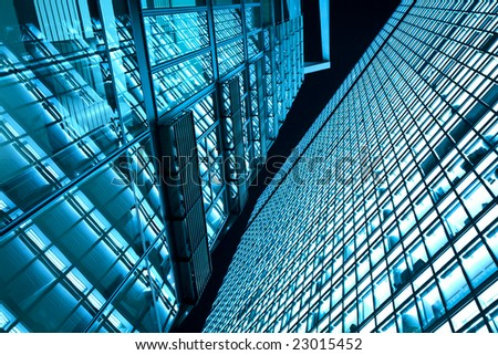 Business towers at night #23015452