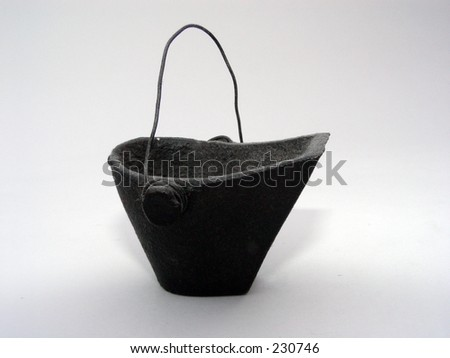 Old Coal Bucket on white background #230746