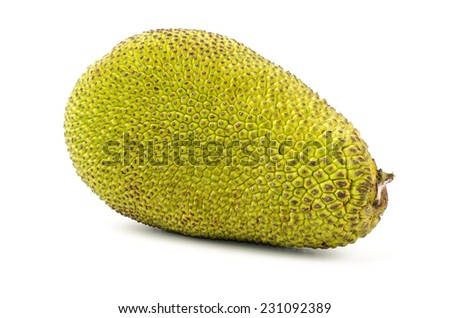 Raw jackfruit on white background #231092389