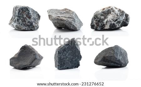 Fragment of granite on a white background. #231276652