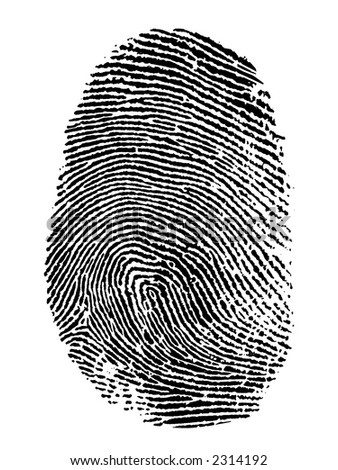 thumb print on white background #2314192