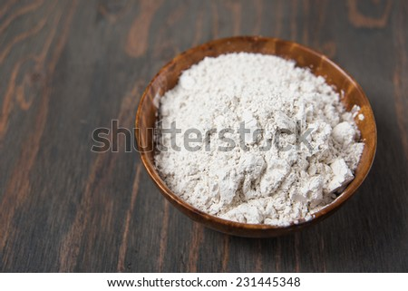 Food Grade Diatomaceous Earth in Bowl Ready for Use #231445348
