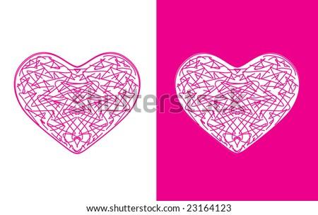 Twelve beautiful hearts for vector illustration #23164123