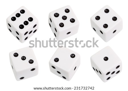White dice isolated on white background #231732742
