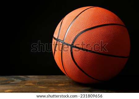 Basketball ball on black background #231809656