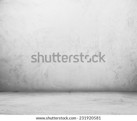 old empty room with concrete wall, grey interior background #231920581