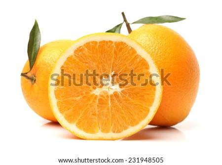 Orange fruit on the white background  #231948505