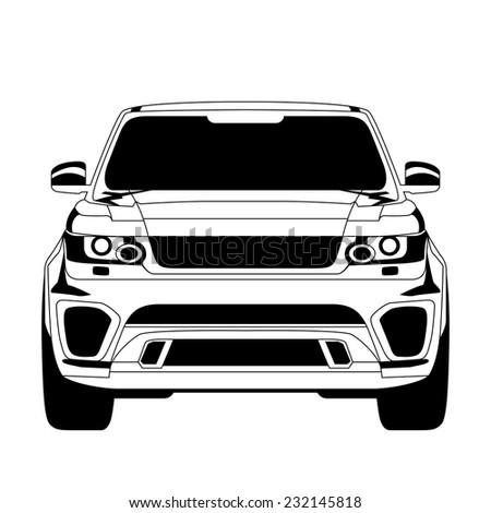 Car icon. Isolated on white background.