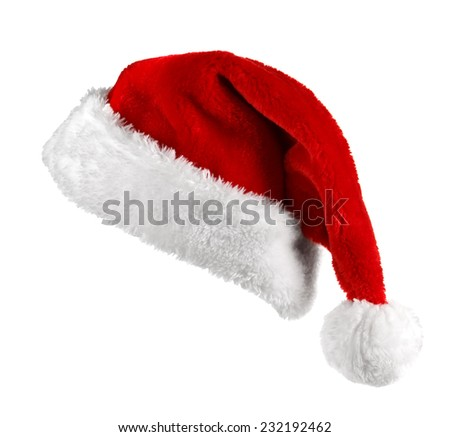 Santa Claus red hat isolated on white background  #232192462