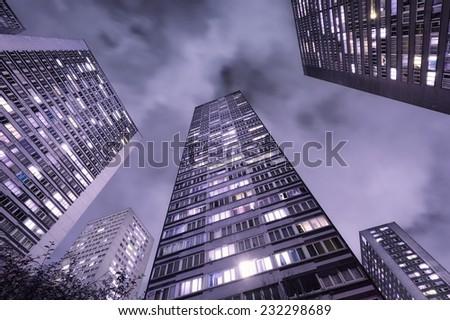 Skyscrapers in Paris, France, at night #232298689