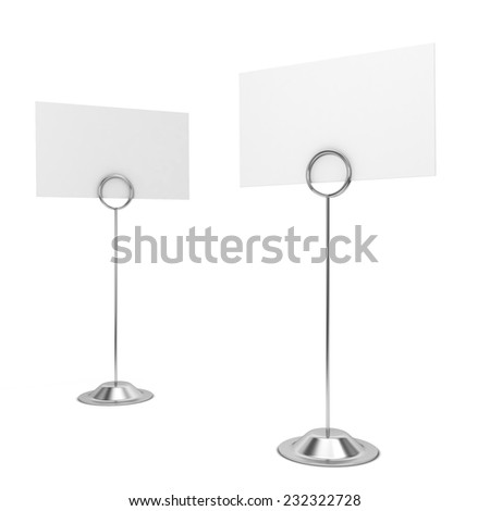 Card holders. 3d illustration isolated on white background