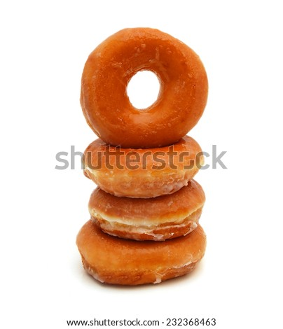 sugary donut isolated on a white background  #232368463