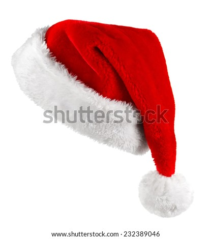 Single Santa Claus red hat isolated on white background  #232389046