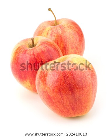 juicy apples isolated on white background #232410013