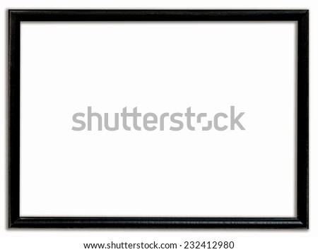 Black frame drop shadow with clipping path.