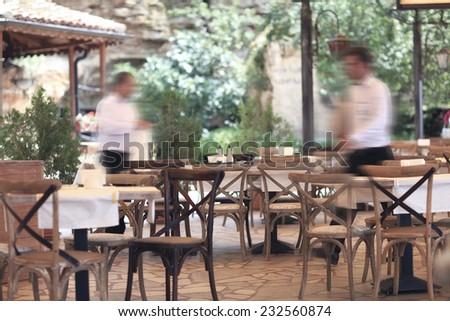 summer restaurant blurred background #232560874