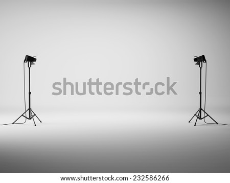 White studio with lights #232586266