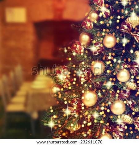 Decorated Christmas tree. #232611070
