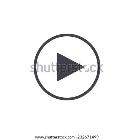 play button icon Royalty-Free Stock Photo #232671499
