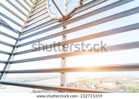 Structural steel framework Royalty-Free Stock Photo #232721659