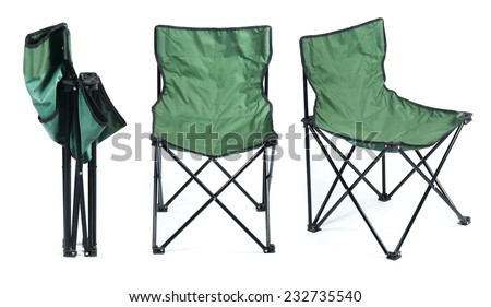 Folding chair isolated on white background #232735540