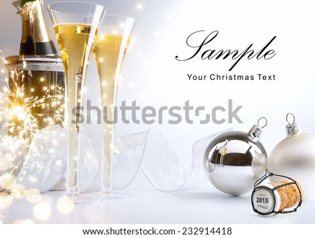 art Christmas or New Year's party invite Royalty-Free Stock Photo #232914418