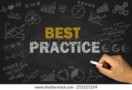 best practice concept on blackboard  Royalty-Free Stock Photo #233225104