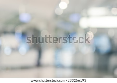 Abstract background of shopping mall, shallow depth of focus. #233256193