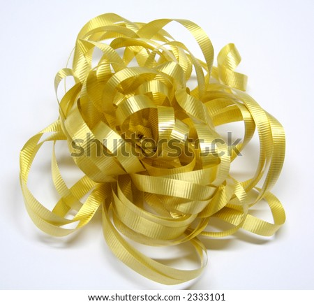Golden bow for Xmas gift #2333101