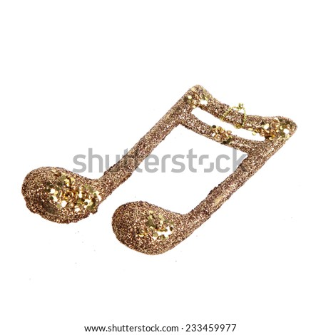 Golden music note #233459977