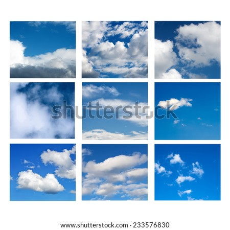 sky collage on white surface #233576830